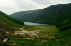Two men rescued after falling in water at Glendalough