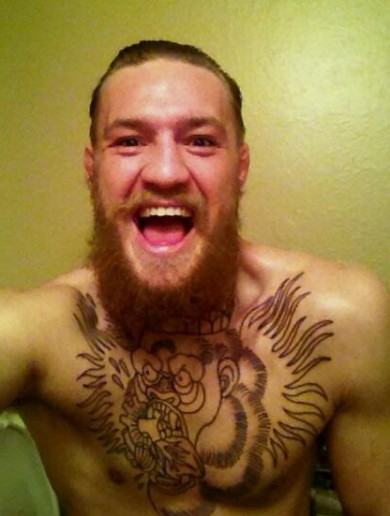 Snaphot: Conor McGregor gets a gorilla tattoo across his chest