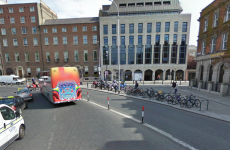Luas works to allow for right turn from St Stephen's Green onto Merrion Row