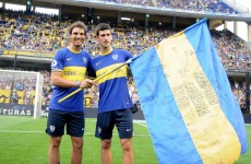Nadal and Djokovic face off in penalty shootout at Boca Juniors game