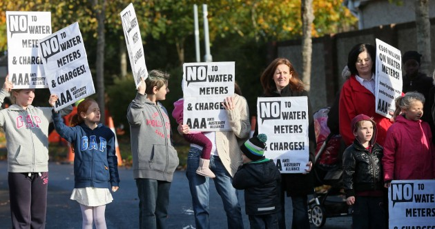 Dublin residents halt water meter installation in protest against charges