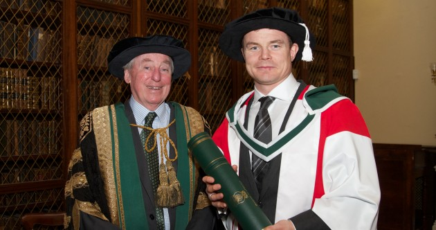 Dr BOD: Brian O'Driscoll receives another honorary doctorate