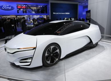 The Honda FCEV concept car is displayed at the North American International Auto Show in Detroit earlier this week.